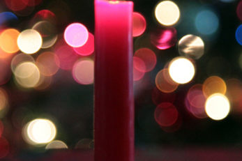 Photography - Winter Christmas candle